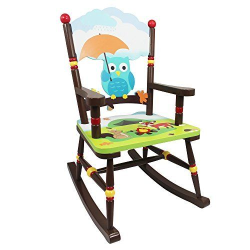 Sit Back And Relax In A Sturdy Wooden Chair Built For The Toughest Of Kids,  With The Enchanted Woodland Rocking Chair. Color Woodland Animals Decorate  The ...