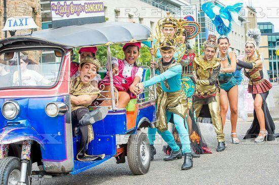 Ladyboys of Bangkok photocall, Edinburgh Festival Fringe, Scotland, UK - 05 Aug 2016  Ladyboys of Bangkok photocall 5 Aug 2016