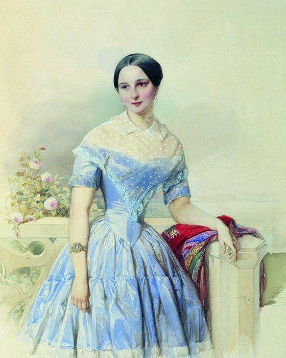 Нежные и красивые акварельные портреты В. И. Гау. | Волшебная сила искусства