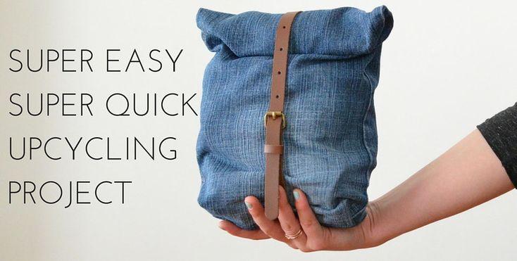 Upcycling Projekt aus alter Jeans