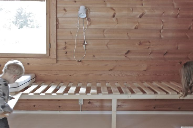 We wanted to have a sofa and a guest beds to our cottage so we made this simple DIY daybed last weekend.   Base is simple. It´s ma...