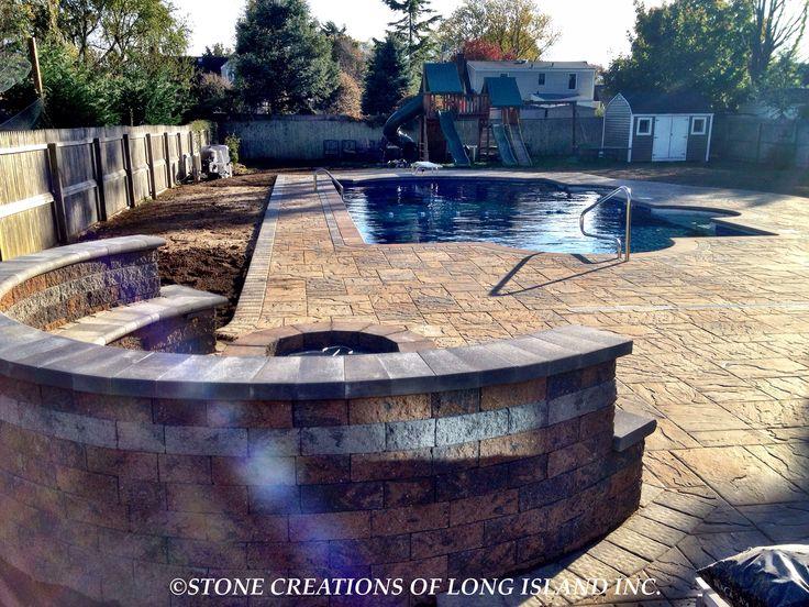 Cambridge Pavingstone Pool Patio, West Islip, N.Y 11795 - Stone Creations of Long Island - Deer Park, N.Y 11729 (631) 678-6896 - (631) 404-5410 www.stonecreationsoflongisland.net #westislip #pavers #pools
