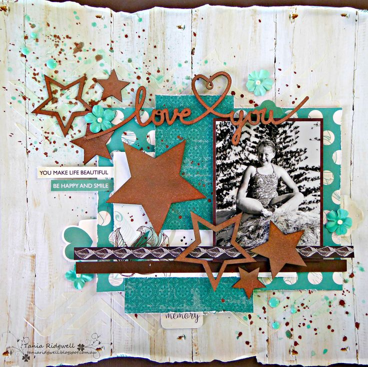 Love+you - Kaisercraft Sea Breeze Patterned Papers and Collectables, http://taniaridgwell.blogspot.nl/2016/05/scrap-girls-may-challenge.html