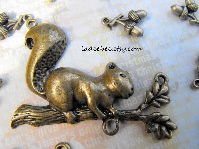 Squirrel and Acorns Pendants and Charms. Starting at $1 on Tophatter.com!