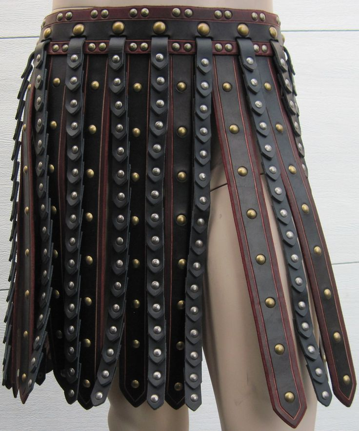 Deluxe Roman Gladiator Leather Armor War Skirt. Very similar to what they wear in #Evolved #Delios