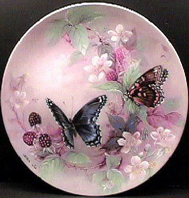 1988 ,Lena Liu Butterfly Collector's Plate, Red Spotted Purples
