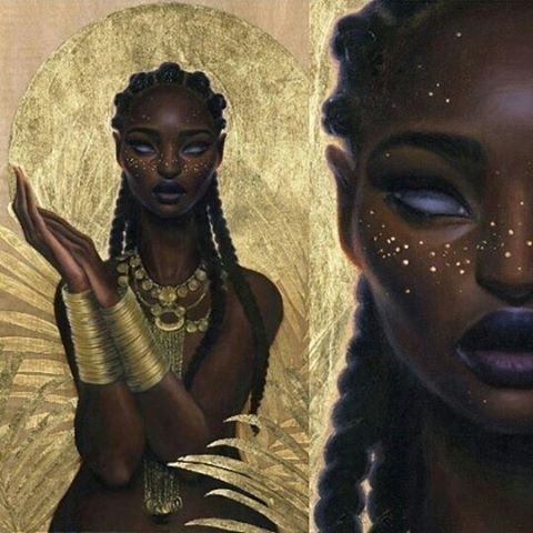 Artist  @saragolish  #art #afrofuturism #fantasy #myblackisbeautiful…