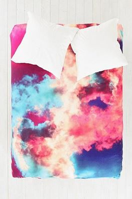 Caleb Troy For DENY Yin-Yang Painted Cloud Duvet Cover - StudentRate