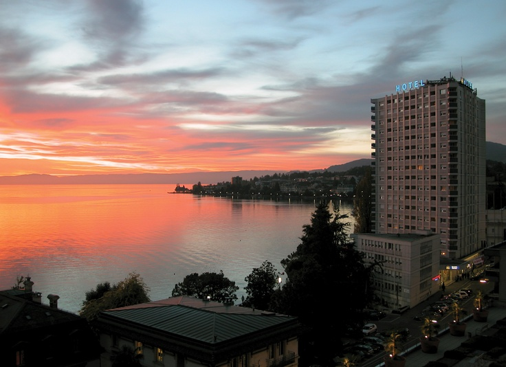 Sunset in Montreux Riviera