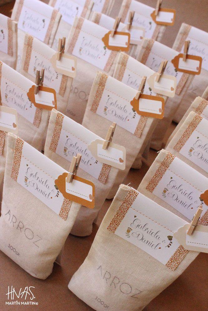 invitaciones - bolsitas de arroz: