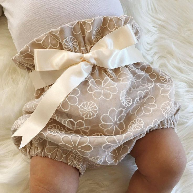 Eighteen Fifty One Handmade Pinwheel Sand Embroidered Lace Bloomers Boho Baby…