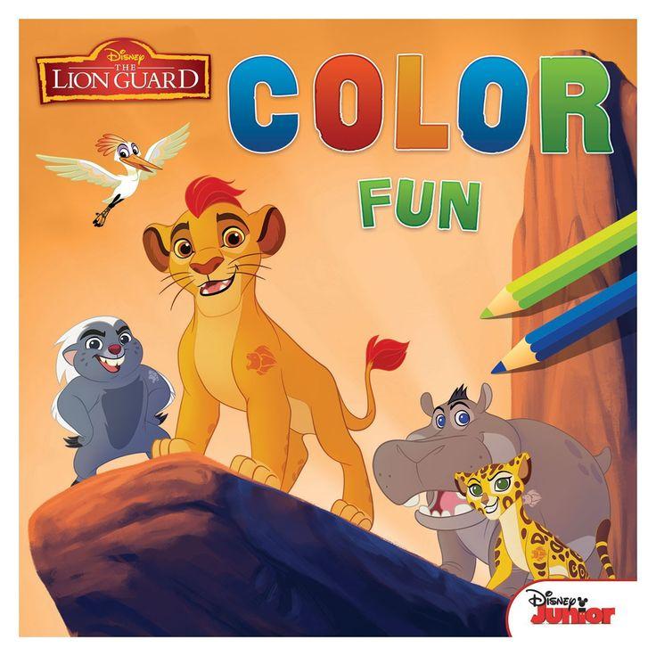 Kleur Kion, Bunga, Fuli, Makuu en alle andere vrienden van De Leeuwenwacht in. De kleurplaten zijn voorzien van een kleurvoorbeeld. Inhoud: 36 pagina's.Afmeting:  22 x 22 cm - Disney The Lion Guard Color Fun