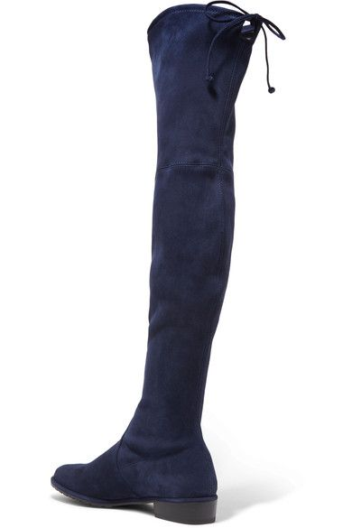 Stuart Weitzman - Lowland Stretch-suede Over-the-knee Boots - Navy