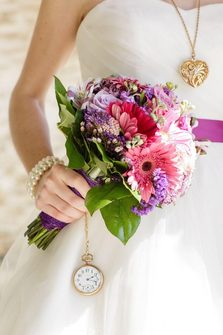 Alice In Wonderland Wedding Ideas   Love This Bright Purple Bouquet