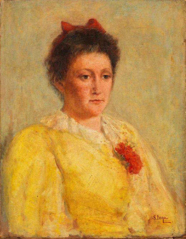 Silvestro Lega - Il garofano rosso 1890