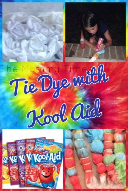 Tie Dye using Kool Aid Summer Fun