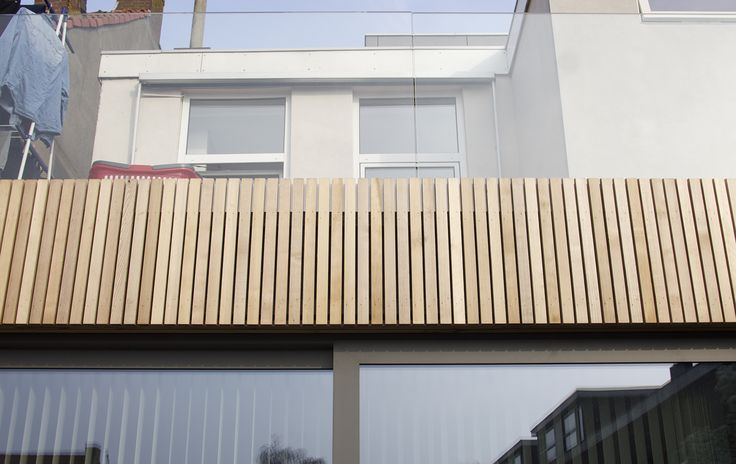 Extension with glass balustrade detail