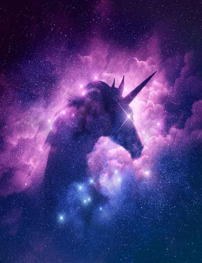 Unicorn Silhouette In Galaxy Nebula Cloud Photography Backdrop J 0196 Clouds Photography Unicorn Painting Unicorn Wallpaper