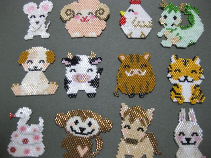 brick stitch animals                                                                                                                                                                                 More