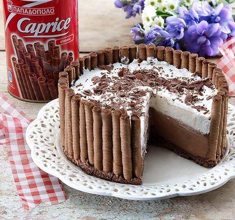 Μια πανεύκολη, για αρχάριους, συνταγή για μια αφράτη τούρτα ψυγείου σε φωλιά από 'Caprice'. Μια πολύ εύκολη και γρήγορη λύση για ένα υπέροχο σοκολατένιο γλ