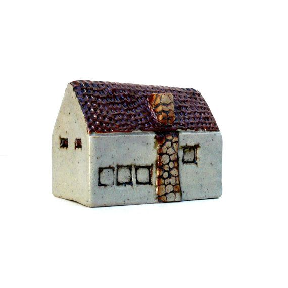 Rustic  HouseWith A Stone Chimney Ceramic by BlueMagpieDesign, €38.95