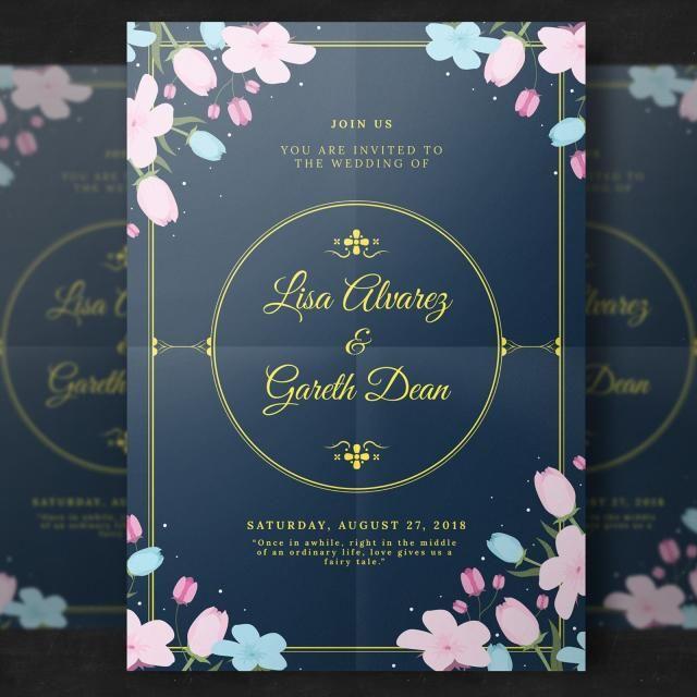 Drawn Invitation Weddig Wedding Invitations Floral Wedding Invitation Card Floral Wedding Invitations