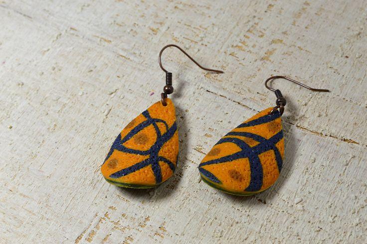 Earrings polymer clay jewelry dangle earrings  by Violanima on Etsy #handmade #jewelry #polymerclay #giftforher