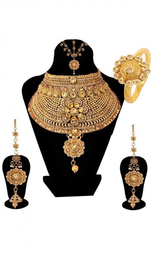 e9aeeac3c0 Perfect Wedding Fashion Golden Color Dulhan Necklace | 368043924 #wedding # brides #fashion #