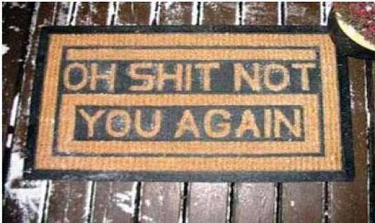 Read the Doormat! OMG! These are funny! Before you enter, read the doormat and leave! LOL (26 pics) (check out all photos)