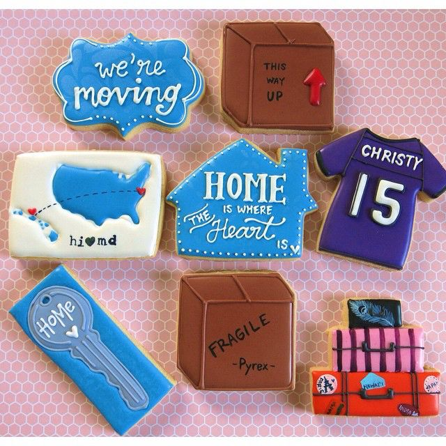 1000 images about cookies house warming home on for Used boxes for moving house