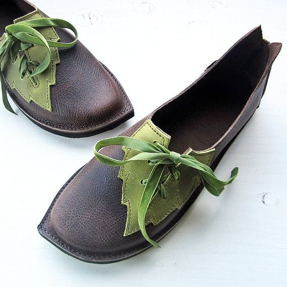 CUSTOM Leather Handmade bohemian fairy tale Womens shoes, PYRAMUS Imp by Fairysteps Shoes