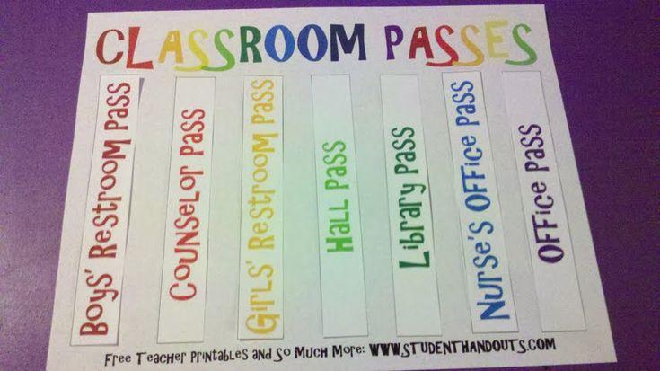 best 25  hall pass ideas on pinterest