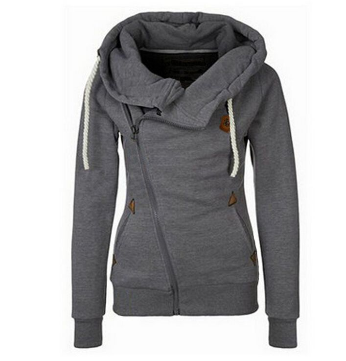 New Fashion Winter Women Zip 6 Colour  Slim Fit Sweater Jumper Hoodies Coat free shipping-in Basic Jackets from Women's Clothing & Accessories on Aliexpress.com | Alibaba Group