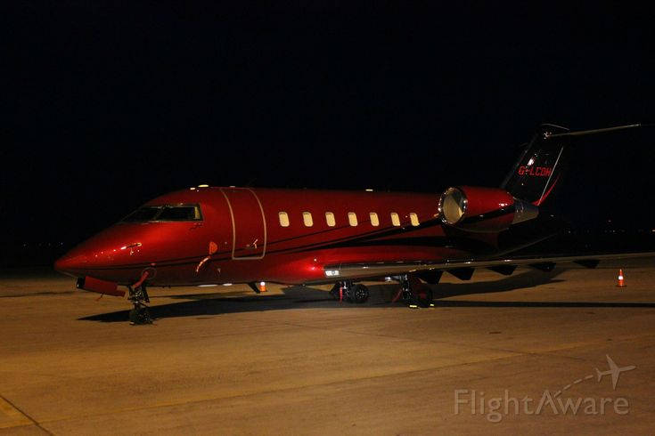 "For those interested in Formula 1, here is Lewis Hamilton's new private jet, Challenger 605 custom registration ""G-LCDH"""