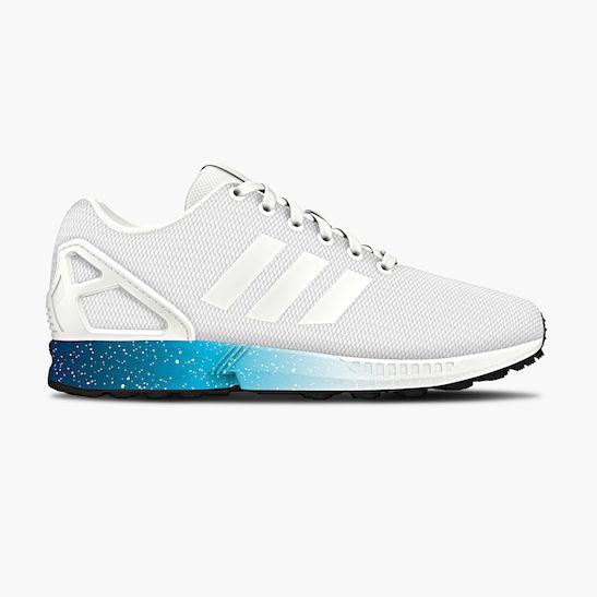 Adidas ZX Flux White-Solar Blue-Dark Blue