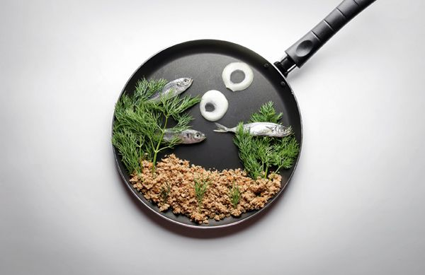 Creative Art With Food Items
