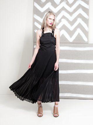 Alchymi - Černé šaty s kapsou  Star Diopside - 1