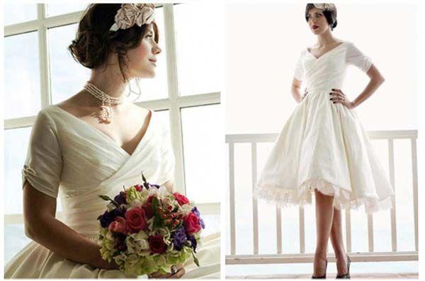 Sette abiti da sposa corti sotto i 600 euro