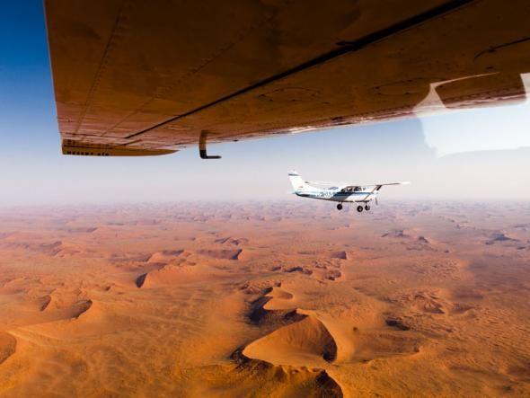 Die Weite der Namib-Wüste lässt sich nur auf einem Rundflug wirklich erfassen.