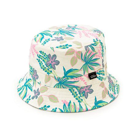 Mix up your style and choose between a vibrant tropical floral print or solid color with the reversible design of this bucket hat.