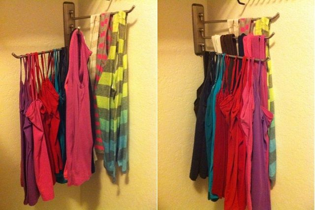 organizing your tank tops | ... ikea to organize your tank tops instead of hanging each of them on