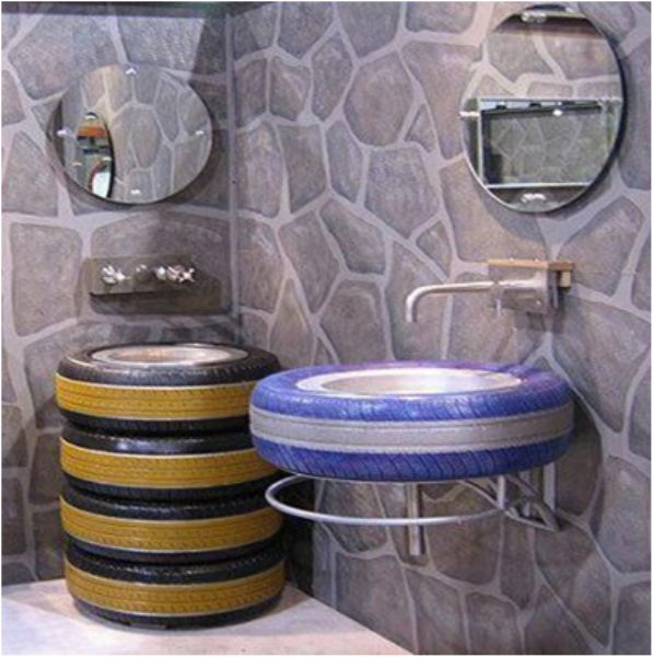Use Old Tires For Inside And Outside Design | www.prakticideas.com
