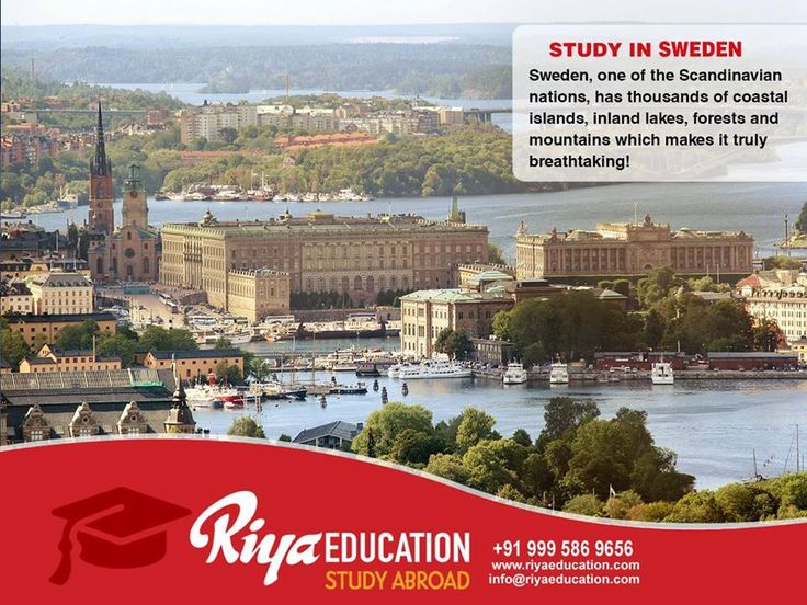 STUDY IN SWEDEN : Sweden, one of the Scandinavian nations, has thousands of coastal islands, inland lakes, forests and mountains which makes it truly breathtaking! Call +91 9995869656 or visit website for details. #StudyinSweden #StudyAbroad #HigherEducation #RiyaEducation #Sweden