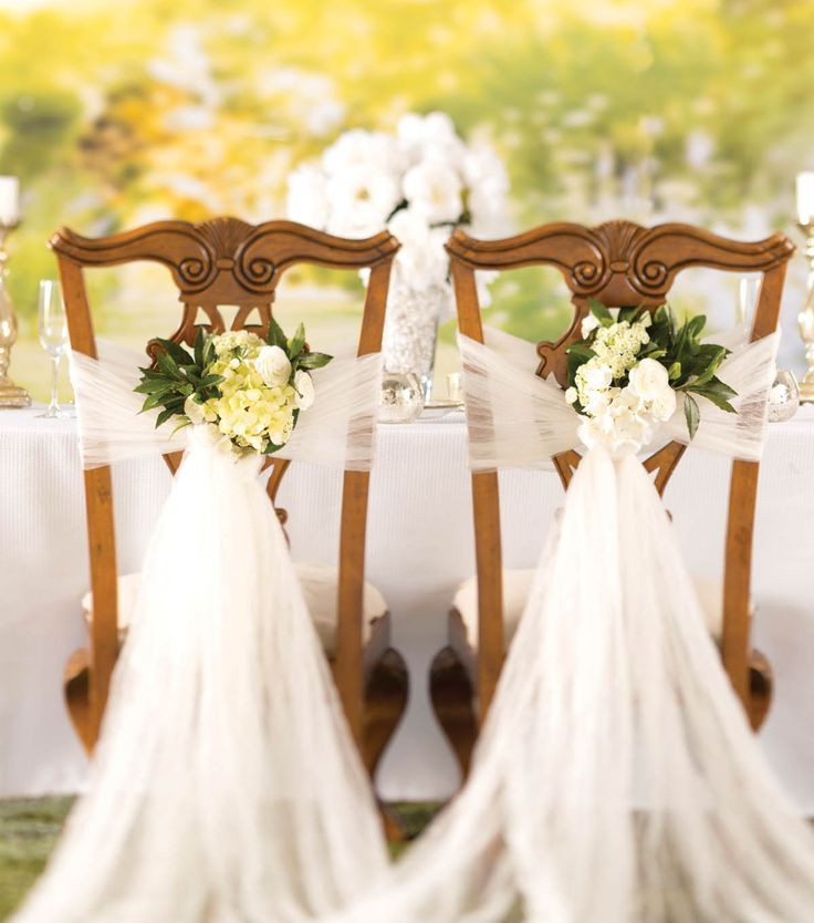How to make a crushed tulle chair d cor diy wedding for How to ship a wedding dress usps