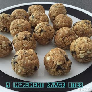 Energy Bites, 4 Ingredient snack, Peanut Butter and Oats snack, 21 Day Fix Snack, Healthy Snack, Protein Snack