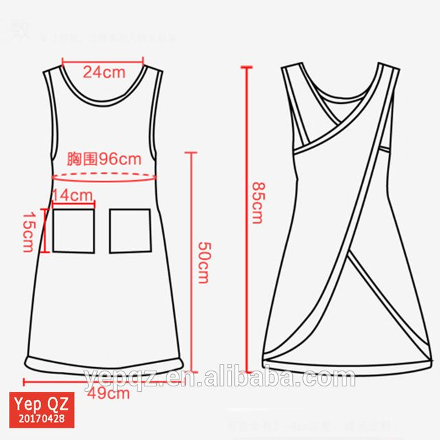 Source Best sell home cooking kitchen apron custom colour cotton cross back apro…
