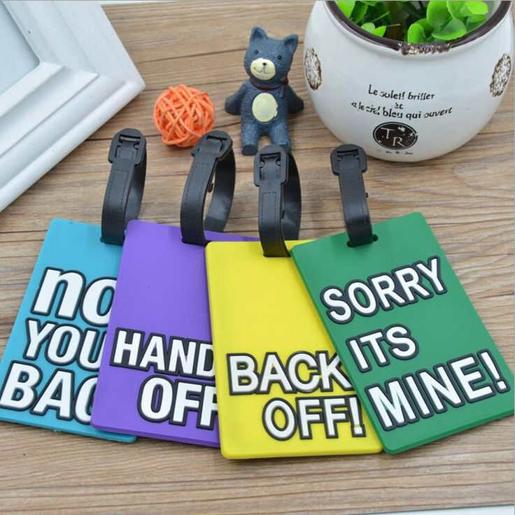 Silica Gel Personalize Luggage Tag Cute Letter ID Address Holder Suitcase Baggage Label Identifier Travel Accessories