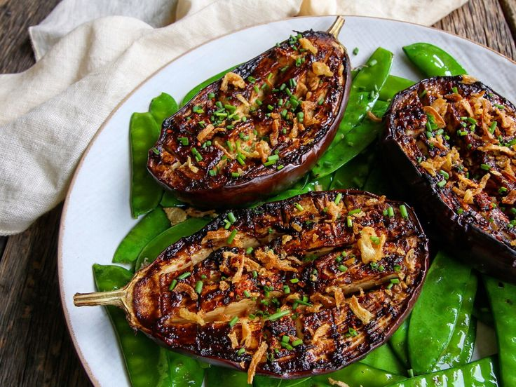 I love how versatile aubergines are, and how they don't have to be just a side dish. In this recipe, they are the stars. I like to eat these over a bed of rice and snow peas sauteed in sesame oil. …