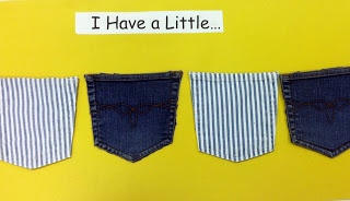 What's in my pocket? A game for kids to guess what's in each pocket using a musical rhyme and interactive board.