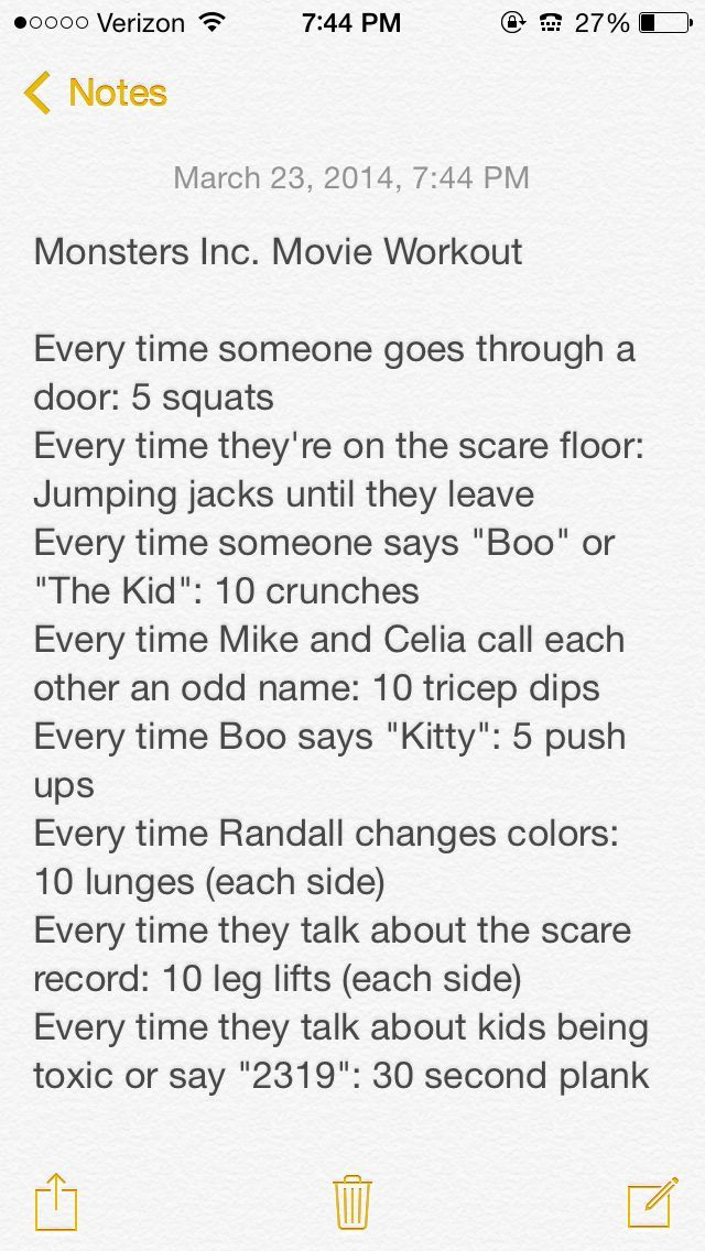 Monsters Inc. Movie Workout Netflix TV Workouts, TV Workout Games